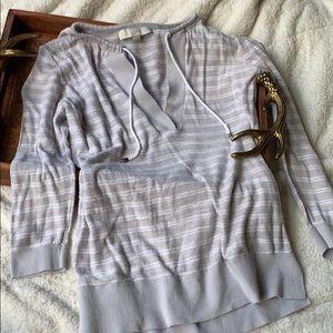 Ann Taylor LOFT Authentic Top Sweater Medium Taupe